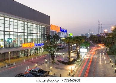 Samut Prakan,Thailand - Dec 10,2017: Mega Bangna is a large shopping mall in Bangkok.It is the fist horizontal shopping center in Asia with the area of 400,000 sq.m.Include Ikea, Robinson, Homepro,