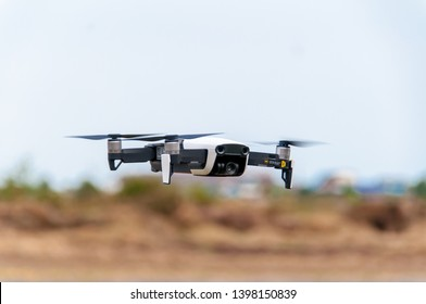 Samut Sakhon, Thailand - May5, 2019:DJI Mavic 2 Pro, one of the most portable and best-selling drones in the market with Hasselblad cameras Can record sharp images.