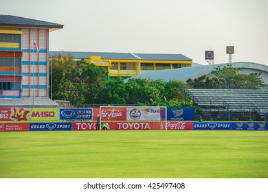 SAMUTPRAKAN, THAILAND - MAY 11: M-Power Stadium home of Osotspa Samutprakan football Club on May 11, 2016 in Samutprakan, Thailand.