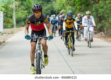 samutsakorn, Thailand March 27-2016 This event is -Spin to travel Kratumban Samutsakorn- This event held to promote health and tourism within the province.NEF