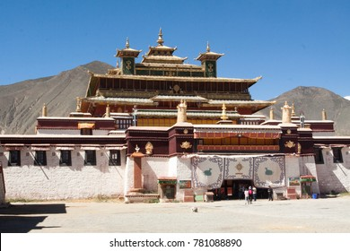 Samye Gompa Tibet Located in San Ya Town, Shannan City, Zanshang County, Tibet Autonomous Region, China, under the Hab Hill in the northern bank of the Brahmaputra.