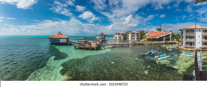 SAN ANDRES ISLAND, Colombia _ Circa March 2017. Decameron Aquarium All-Inclusive Resort Panorama during a Sunny Day