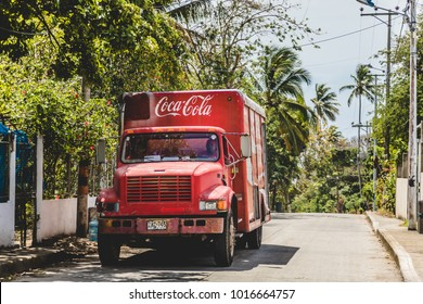 SAN ANDRES ISLAND, Colombia _ Circa March 2017. Old Coca Cola Truck in San Andres Island