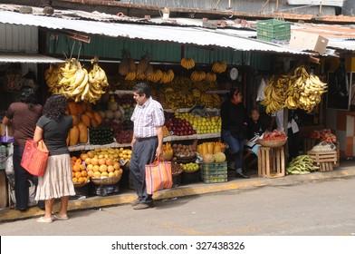 SAN ANDRES TUXTLA, MEXICO - JANUARY 17,2015: Street market  on January 17,2015 in San Andres Tuxtla