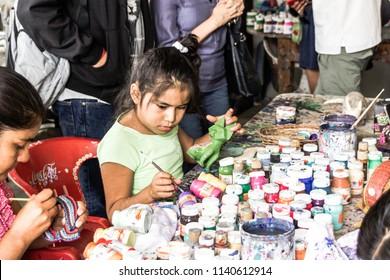 San Antonio Arrazola, Oaxaca / Mexico - 21/7/2018: (Traditional indigenous alebrijes artisans from Oaxaca Mexico)