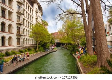 San Antonio Buildings and River in Texas