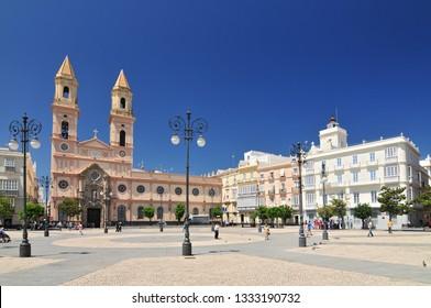 San Antonio church on the San Antonio square. Cadiz. Andalucia. Spain.