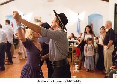 SAN ANTONIO DE ARECO, BUENOS AIRES, ARGENTINA - NOV 29: Gauchos en Fiesta de la Tradicion in San Antonio de Areco, November 29, 2014, Buenos Aires, Argentina