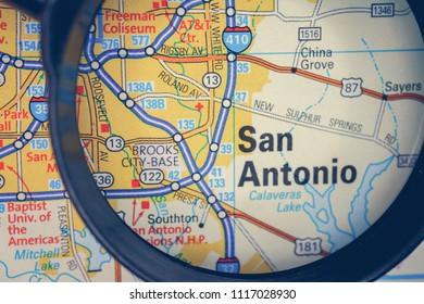 San Antonio on USA map