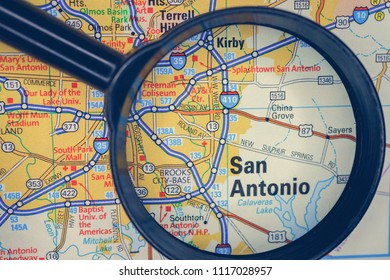 San Antonio on USA map