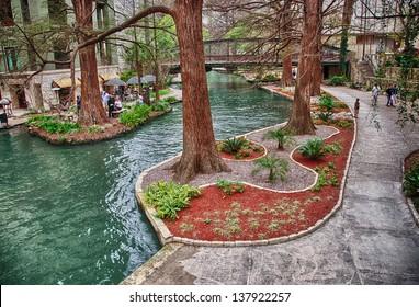 San Antonio riverwalk, Texas.