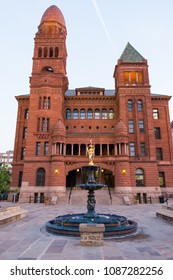 San Antonio, Texas - April 18, 2018: Historic Brexar County Courthouse located downtown in Main Plaza near the River Walk.