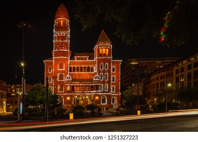 San Antonio, Texas / Bexar - December 4 2018: Courthouse during the Holidays