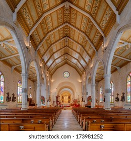 SAN ANTONIO, TEXAS - JANUARY 7: Cathedral of San Fernando on January 7, 2014 in San Antonio, Texas