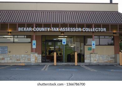 San Antonio Texas, USA - April 5, 2019: Bexar County Tax Assessors Office in San Antonio Texas.