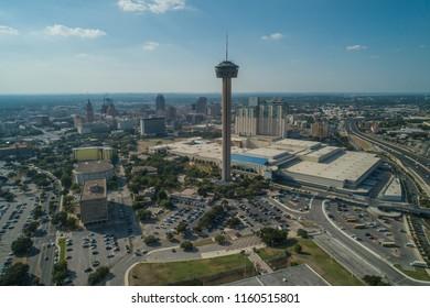 SAN ANTONIO, TEXAS, USA - AUGUST 1, 2018: Tower of the Americas San Antonio Texas