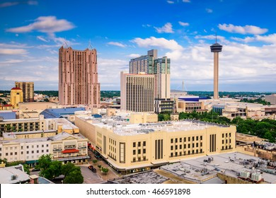 San Antonio, Texas, USA downtown skyline.