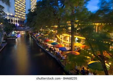 SAN ANTONIO, TX - AUG 13: The San Antonio River Walk in San Antonio, Texas on August 13, 2011.  The Walk is 5 miles along the San Antonio River. Over 20 events take place on the River Walk every year.