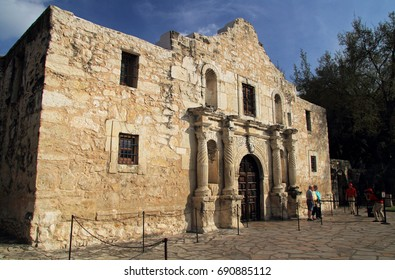 SAN ANTONIO, TX – FEBRUARY 27: Tourists and locals enjoy a visit to the historic Alamo compound, one of San Antonio's main attractions February 27, 2017 in San Antonio, TX.