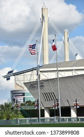 SAN ANTONIO, TX - OCT 14: Alamodome in San Antonio, Texas, as seen on Oct 14, 2018. It is a 64,000-seat multi-purpose stadium.