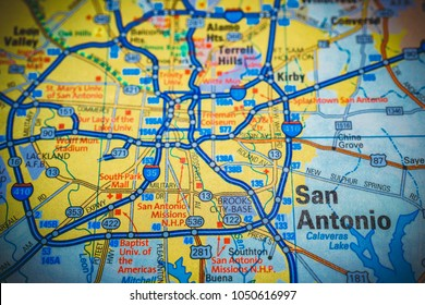 San Antonio. USA map