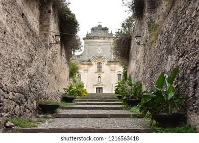 San Bartolemeo church on Lipari island,Italy,