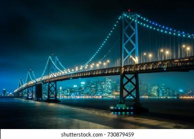 San Francisco–Oakland Bay Bridge in San Francisco at Night