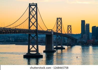 San Francisco–Oakland Bay Bridge Sunset