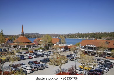San Bernardino, APR 19: Europe style building in the famous Lake arrowhead on APR 19, 2017 at San Bernardino