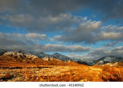 San Bernardino Mountains after winter storms; San Bernardino, California