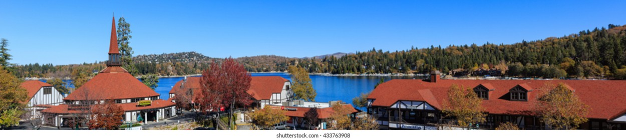 San Bernardino, NOV 7: The famous Lake arrowhead on NOV 7, 2014 at San Bernardino, CA, USA