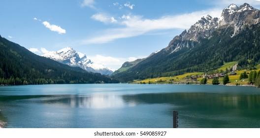 San Bernardino pass, Switzerland : Lake of Sufers.