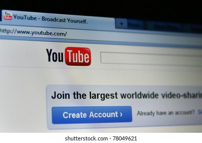 SAN BRUNO, CA - MAY 26: YouTube turned 6 years old this month and announced that it gets 3 billion views per day and 48 hours of video uploaded per minute on May 26, 2011 in San Bruno, California.