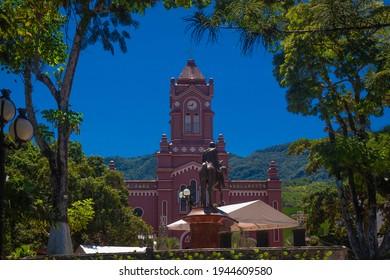 San Carlos, Antioquia, Colombia. July 14, 2019, The community of the municipality of San Carlos de la Parroquia Nuestra Señora de los Dolores. In eastern Antioquia, it is a Catholic community.