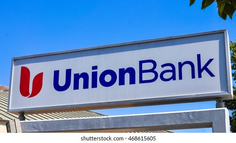 San Carlos, CA - Aug. 13, 2016: Union Bank sign. Union Bank provides personal banking and financial services.