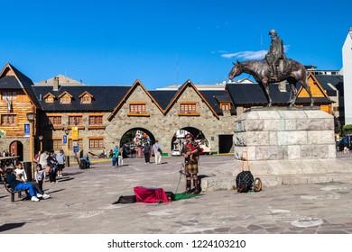 SAN CARLOS DE BARILOCHE, ARGENTINA - MARCH 18, 2015: Civic center on a main Square in Bariloche, Argentina.