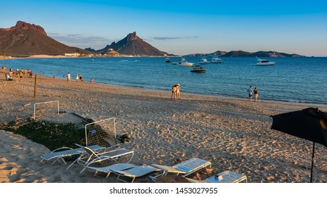 San Carlos, Mexico - Oct. 29, 2016: San Carlos Beach at sundown, San Carlos, Mexico.