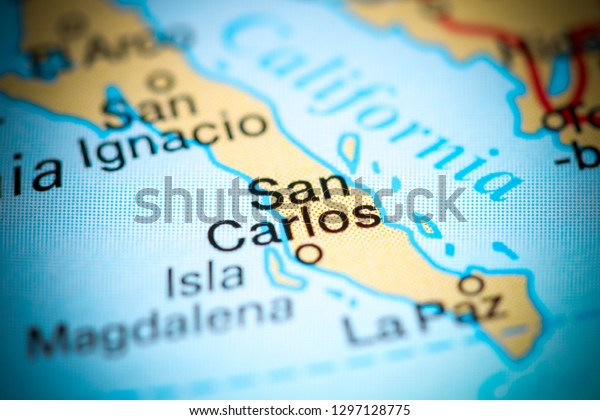 San Carlos Mexico On Map Stock Photo (Edit Now) 1297128775