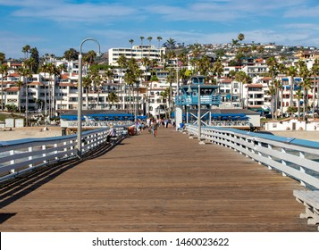 San Clemente, CA / USA - 07/20/2019: View from the San Clemente Pier Towards the City of San Clemente