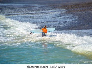 San clemente, CA / USA - FEB 2. 2019: Surfer Girl Contestant