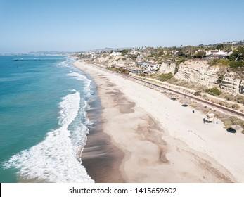 San Clemente, California coastline aerial landscape views