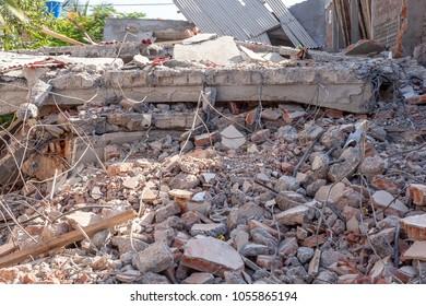 SAN CLEMENTE, MANABI,ECUADOR,  CIRCA APRIL 2016  Building damage Manabi Ecuador Circa April 2016.  An Earthquake damaged many buildings.