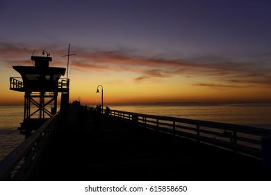 San Clemente Pier Sunset, San Clemente CA