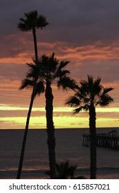 San Clemente sunset vertical