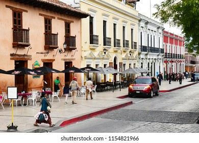 San Cristobal De Las Casas;  Chiapas, United Mexican States - may 16 2018 : the picturesque old city