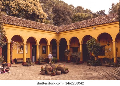 San Cristobal de las Casas, Chiapas / Mexico - 21/07/2019: Detail of Na Bolom cultural site in San Cristobal de las Casas Mexico