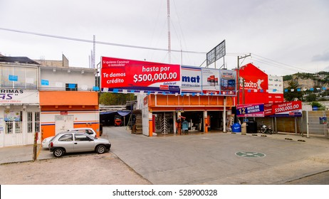 SAN CRISTOBAL DE LAS CASAS, MEXICO - NOV 1, 2016: Boxito shop in San Cristobal de las Casas, town located in the Central Highlands region of the  state of Chiapas, Mexico