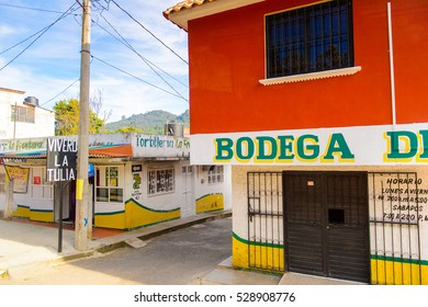 SAN CRISTOBAL DE LAS CASAS, MEXICO - NOV 1, 2016: Typical street of San Cristobal de las Casas, town located in the Central Highlands region of the  state of Chiapas, Mexico