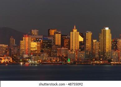 San Diego at beautiful sunset