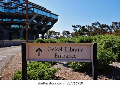 SAN DIEGO, CA -15 JULY 2016- named in honor of Dr. Seuss, the Geisel Library is the main library at the University of California San Diego (UCSD).
